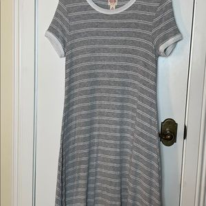 Mossimo grey/white striped dress size Med.